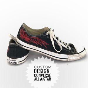 Converse Black custom design size 10